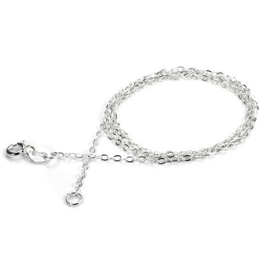 Sterling Silver Flat Trace Chain