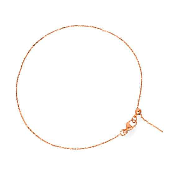 9ct Rose Gold Adjustable 7.5 Inch Bracelet