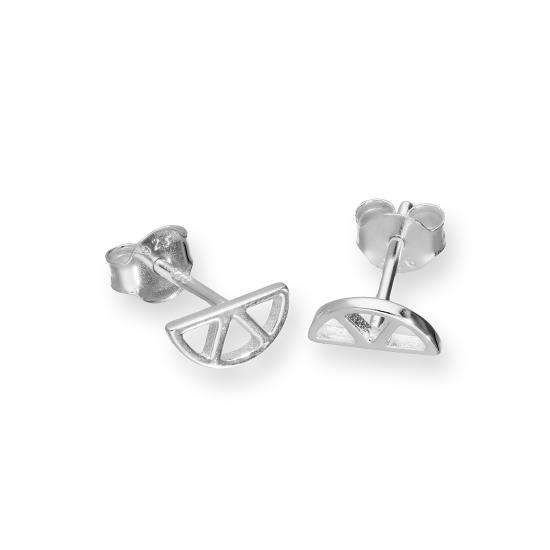Sterling Silver Cut Out Lemon Slice Stud Earrings