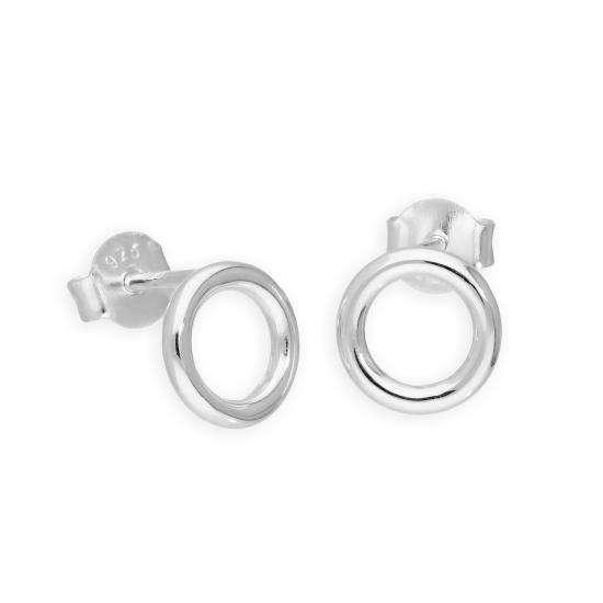 Sterling Silver 8mm Circle Stud Earrings