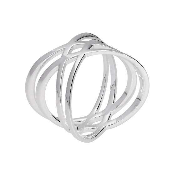 Sterling Silver Double Criss Cross Ring