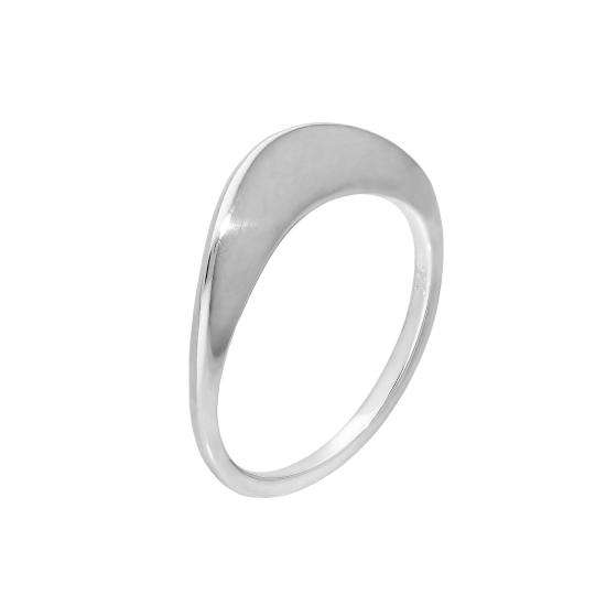 Sterling Silver Curve Fold Midi Ring