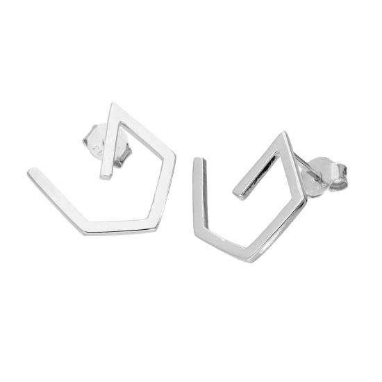 Sterling Silver Shape Stud Earrings