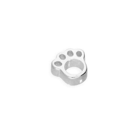 Sterling Silver Floating Open Pawprint Charm