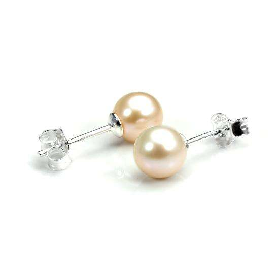 Sterling Silver & 6mm Freshwater Pearl Stud Earrings