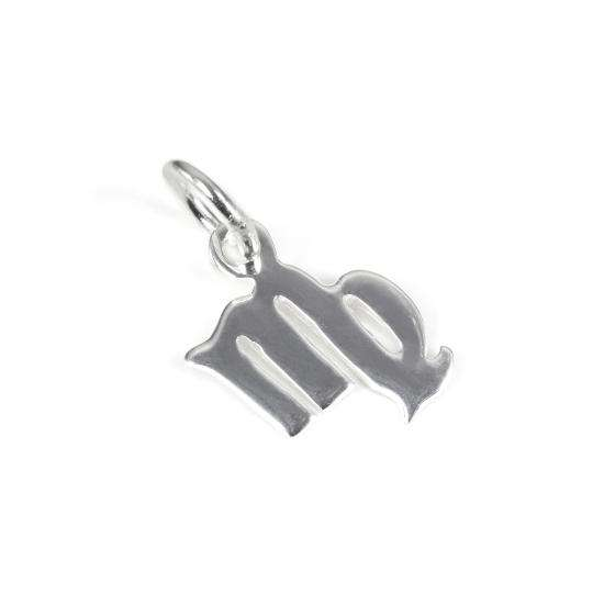 Small Sterling Silver 2D Virgo Symbol Charm