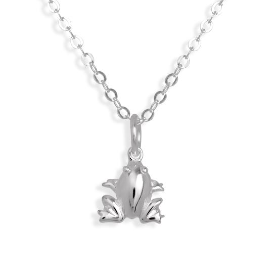Sterling Silver Frog Necklace 16 - 22 Inches