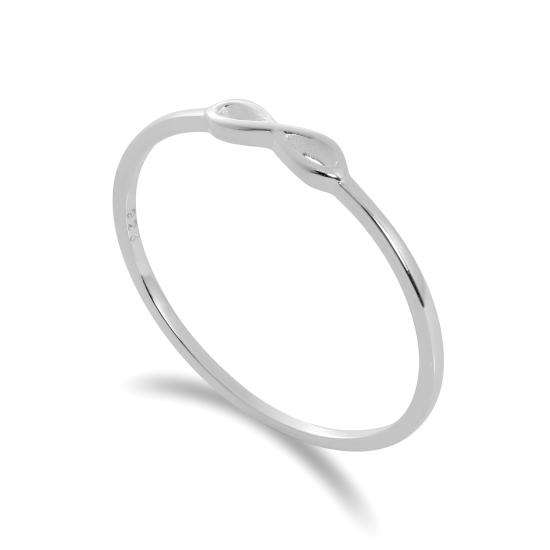 Sterling Silver Infinity Loop 1mm Stacking Ring Size I - W