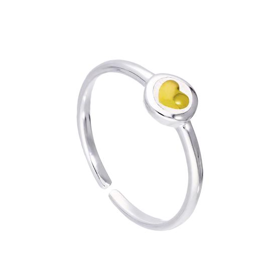 Gold Plated Sterling Silver Adjustable Midi Toe Stacking Ring with Heart