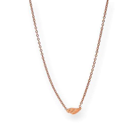 Rose Gold Plated Sterling Silver Wing Necklace