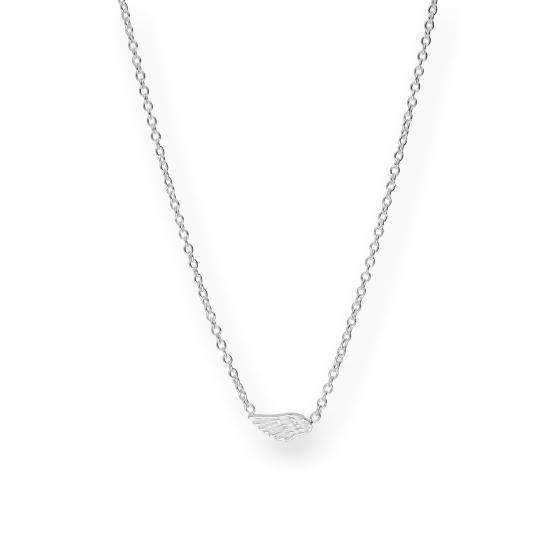 Sterling Silver Wing Necklace w 18 Inch Chain