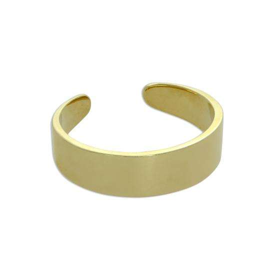 9ct Gold Thick Band Toe Ring