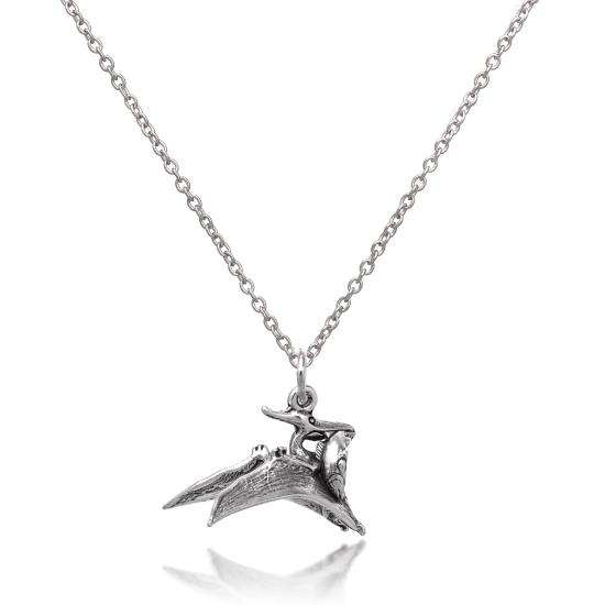 Sterling Silver 3D Pterodactyl Necklace