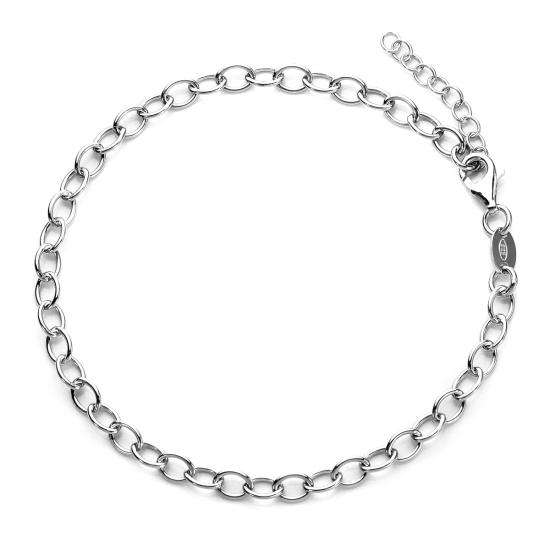 TheCharmWorks Sterling Silver Rolo Charm Bracelet