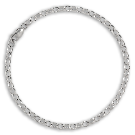TheCharmWorks Sterling Silver Belcher Chain Charm Bracelet - 6 Inches