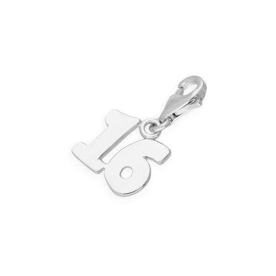 TheCharmWorks Sterling Silver 16th Birthday Clip on Charm