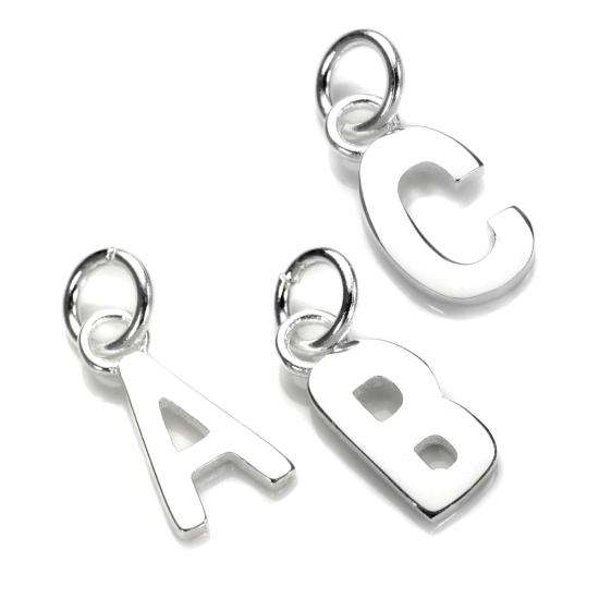 Sterling Silver Letter Charm
