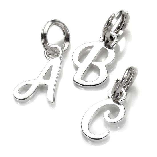 Sterling Silver Script Letter Charm