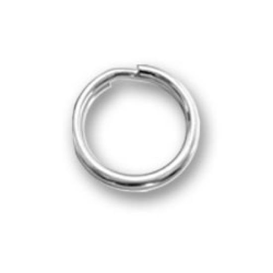 5 }STERLING SILVER  SPLIT RINGS FOR ADDING CHARMS TO BRACELET//NECKLACE 5 mm