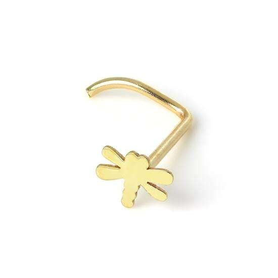 9ct Gold Dragonfly Nose Screw
