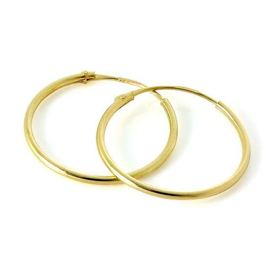 Lightweight 14ct Yellow Gold Sleeper Hoop Earrings 13mm