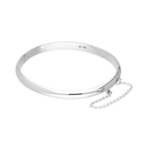 Sterling Silver 51mm Child Hinged Bangle