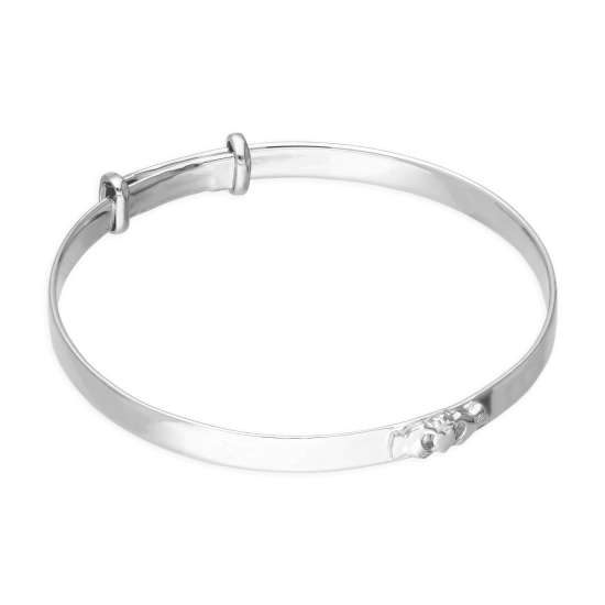 Sterling Silver 45mm Adjustable Child Claddagh Bangle