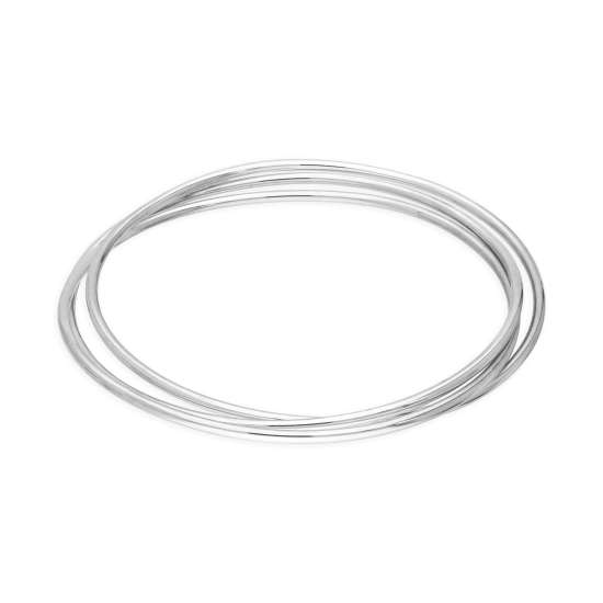 Sterling Silver Triple Russian 65mm Adult Stacking Bangle