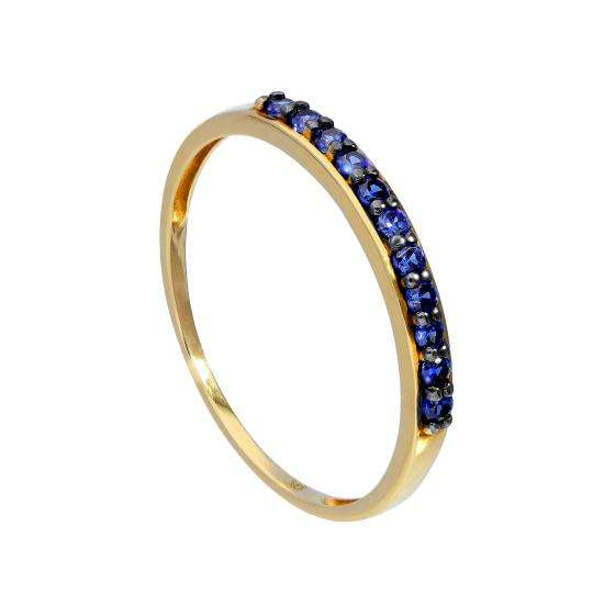 9ct Gold & Sapphire Ring Sizes I - U