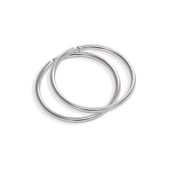 Sterling Silver Lightweight Sleeper 12mm Hoop Earrings