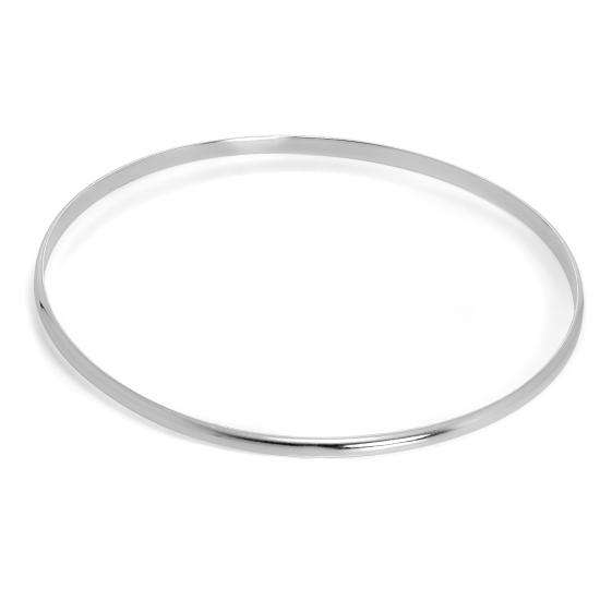 Simple Sterling Silver Plain 3mm Bangle