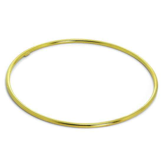 Light Gold Plated Sterling Silver 2mm Stacking Bangle