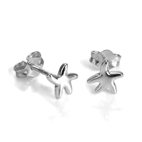 Small Sterling Silver Starfish Stud Earrings