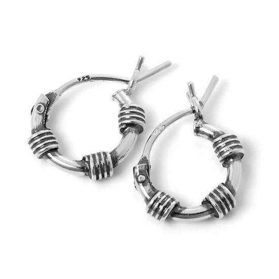 Tiny Sterling Silver 10mm Bali Hoop Earrings with Wire Coils