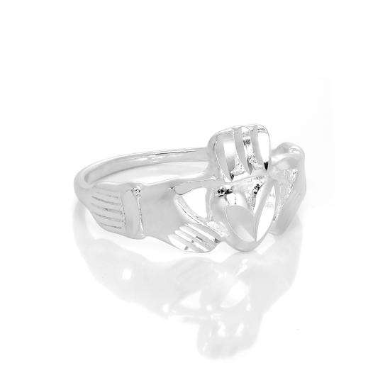 Sterling Silver Claddagh Ring Size I - W