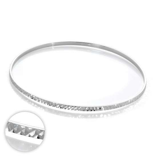 Sterling Silver Diamond Cut 66mm Stacking Bangle