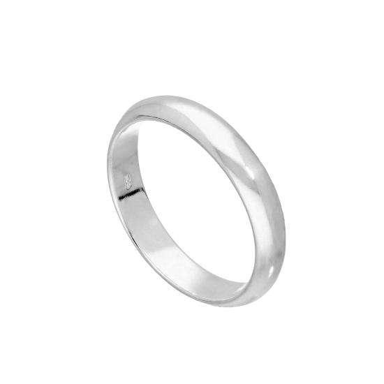 Sterling Silver 4mm D Shaped Wedding Band Ring Size I - Z+6
