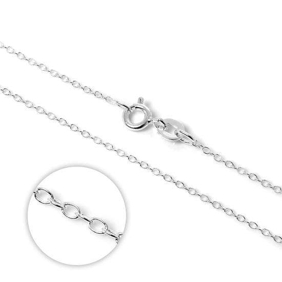 Sterling Silver Belcher Chain Necklace 14 - 22 Inches