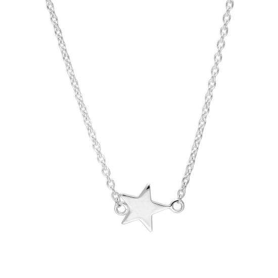 Sterling Silver Star Necklace on 18 Inch Chain