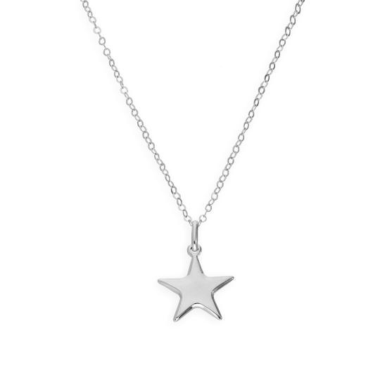 Sterling Silver Star Pendant Necklace 16 - 22 Inches