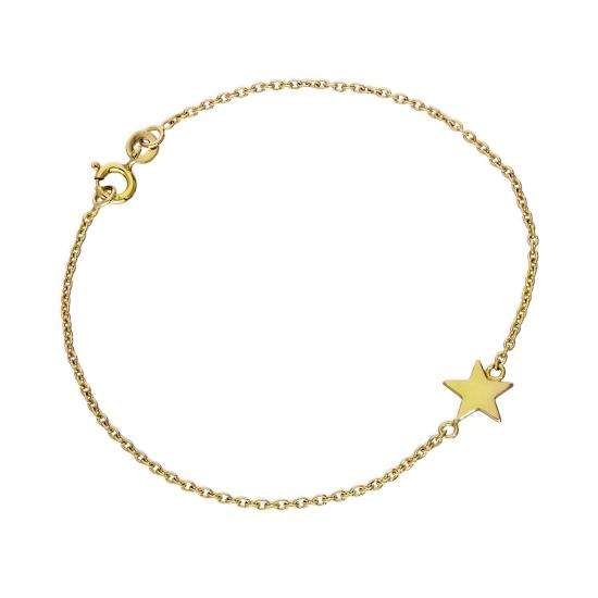 Gold Plated Sterling Silver 7 Inch Star Bracelet