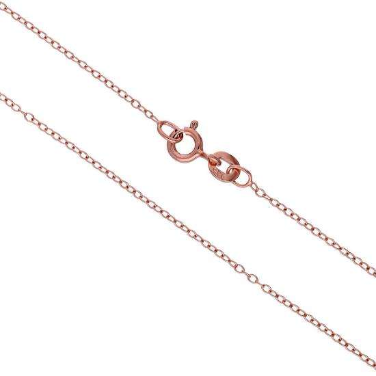Rose Gold Plated Sterling Silver Trace Chain 14 16 18 20 22 Inches