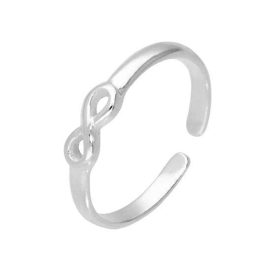 Sterling Silver Infinity Symbol Adjustable Toe Ring