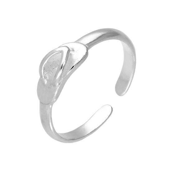 Sterling Silver Sandal Adjustable Toe Ring