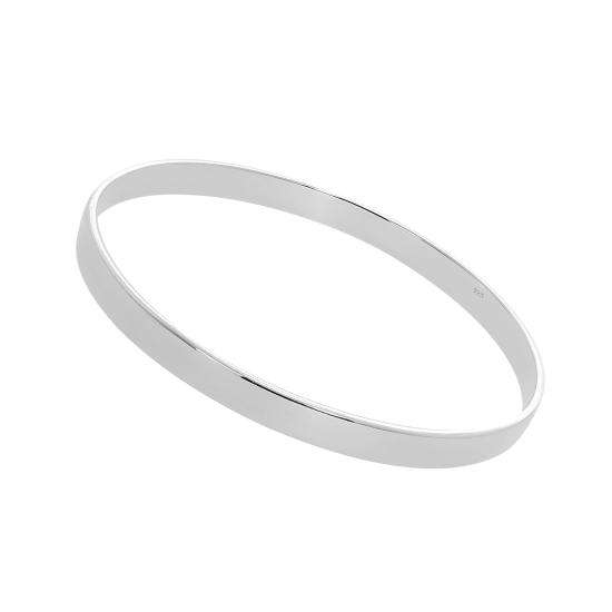 Sterling Silver Engravable 67mm Bangle