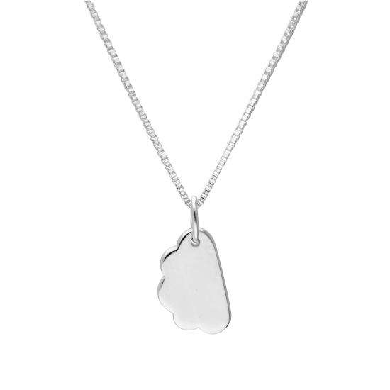 Sterling Silver Cloud Pendant Necklace 14 - 22 Inches