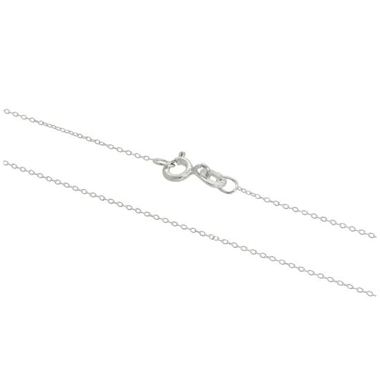 Sterling Silver Fine 0.8mm Cable Chain 14 - 32 Inches