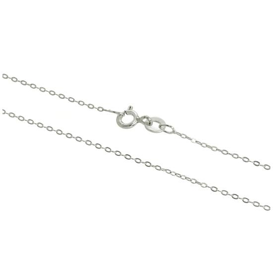 Sterling Silver 1mm Flat Cable Chain 14 - 28 Inches