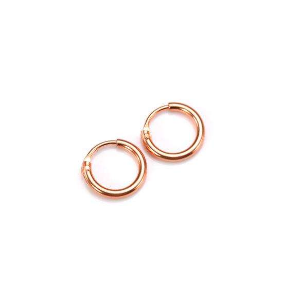Rose Gold Plated Sterling Silver Lightweight Sleeper Hoops 8mm