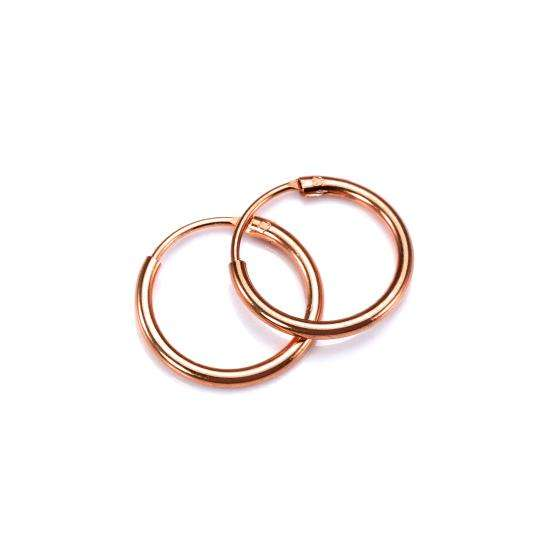 Rose Gold Plated Sterling Silver Lightweight Sleeper Hoops 12mm